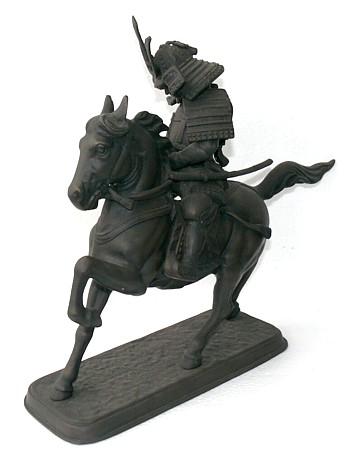 Старинные бронзовые статуэтки. бронзовая антикварная статуэтка САМУРАЙ. Интернет-магазин Аояма-До